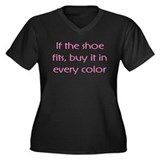 If The Shoe Fits Color Women's Plus Size V-Neck Da