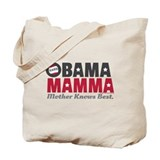 Obama Mamma - Dark Grey/Red Tote Bag