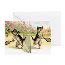 Tennis Cats Greeting Cards (Pk of 10)