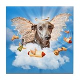 Italian Greyhound Lil Angel Tile Coaster