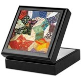 Tumbling Block Patchwork Quilt Keepsake Box