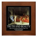 Truth and Beauty Framed Tile