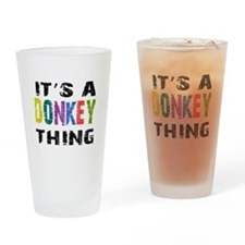 Donkey THING Drinking Glass