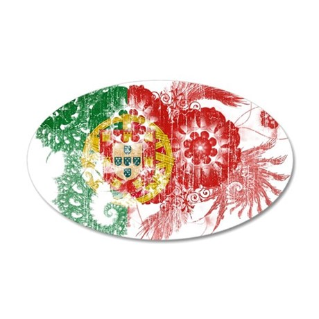 Portugal Flag 22x14 Oval Wall Peel