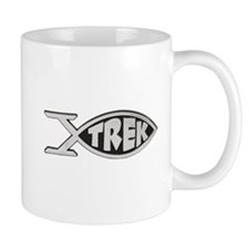 trek fish star trek design Small Mugs