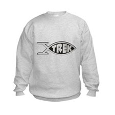 trek fish star trek design Sweatshirt