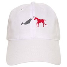 Narwhal Versus Unicorn Baseball Cap