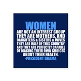 "Obama on Women Square Sticker 3"" x 3"""