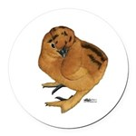 Red Silkie Chick Round Car Magnet