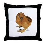 Red Silkie Chick Throw Pillow