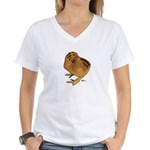 Red Silkie Chick Women's V-Neck T-Shirt