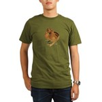 Red Silkie Chick Organic Men's T-Shirt (dark)