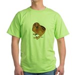 Red Silkie Chick Green T-Shirt