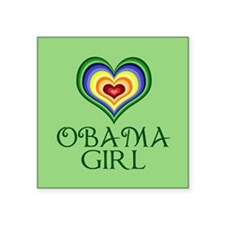 "Obama Girl Square Sticker 3"" x 3"""