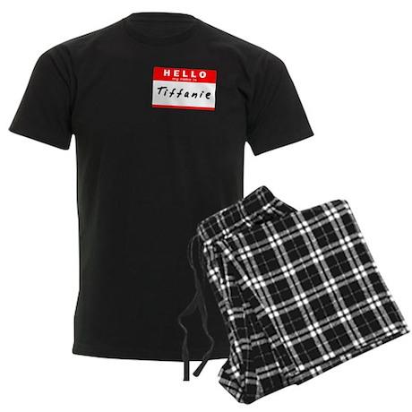 Tiffanie, Name Tag Sticker Men's Dark Pajamas