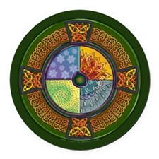 Celtic Elements Round Car Magnet