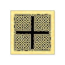 """Celtic Square Cross Square Sticker 3"""" x 3"""""""