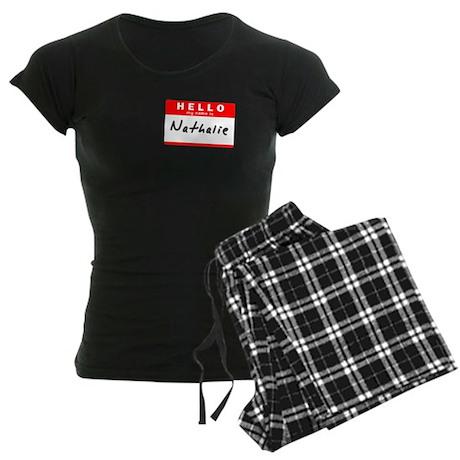 Nathalie, Name Tag Sticker Women's Dark Pajamas