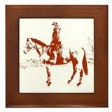 Horse Riding - Framed Tile
