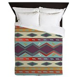 Southwest Indian Blanket Design Queen Duvet