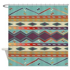 Southwest Indian Blanket Design Shower Curtain