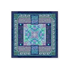 "Celtic Atlantis Opal Square Sticker 3"" x 3"""