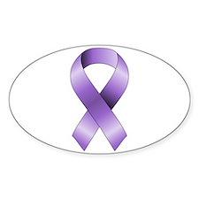 Purple Ribbon Decal