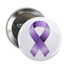 "Purple Ribbon 2.25"" Button (10 pack)"