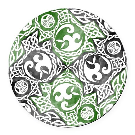 Celtic Puzzle Square Round Car Magnet