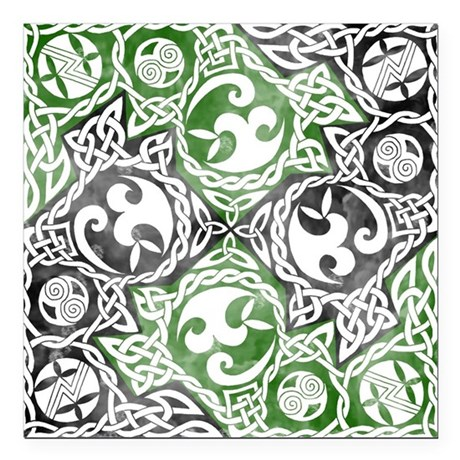 "Celtic Puzzle Square Square Car Magnet 3"" x 3"""