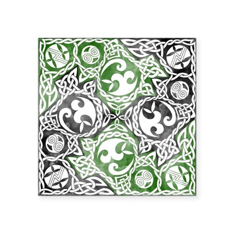 "Celtic Puzzle Square Square Sticker 3"" x 3"""