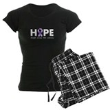 Purple Ribbon Hope pajamas
