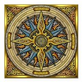 "Celtic Compass Square Car Magnet 3"" x 3"""