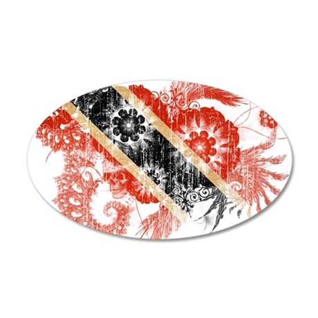 Trinidad and Tobago Flag 22x14 Oval Wall Peel