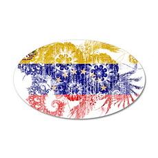 Venezuela Flag 22x14 Oval Wall Peel
