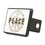 Distressed Peace Rectangular Hitch Cover