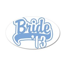 Baseball Blue Bride 2013 22x14 Oval Wall Peel