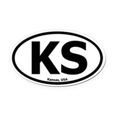 Kansas Oval Car Magnet