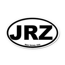 JRZ New Jersey Oval Car Magnet