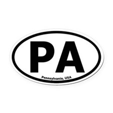 Pennsylvania Oval Car Magnet