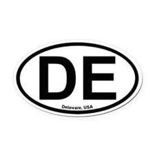Delaware Oval Car Magnet