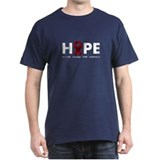 Burgundy Ribbon Hope T-Shirt