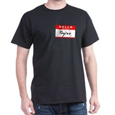 Taylor, Name Tag Sticker T-Shirt