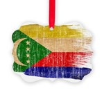 Comoros Flag Picture Ornament