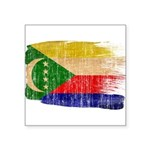 Comoros Flag Square Sticker 3