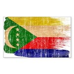 Comoros Flag Sticker (Rectangle 50 pk)