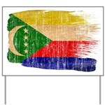 Comoros Flag Yard Sign