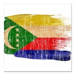 Comoros Flag Square Car Magnet 3
