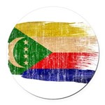 Comoros Flag Round Car Magnet