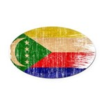 Comoros Flag Oval Car Magnet
